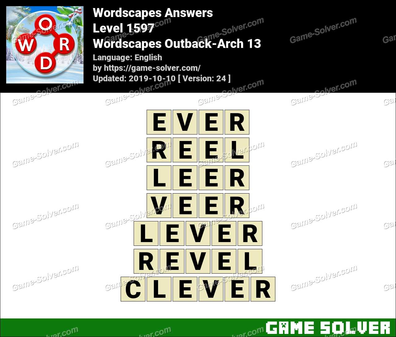 Wordscapes Outback-Arch 13 Answers