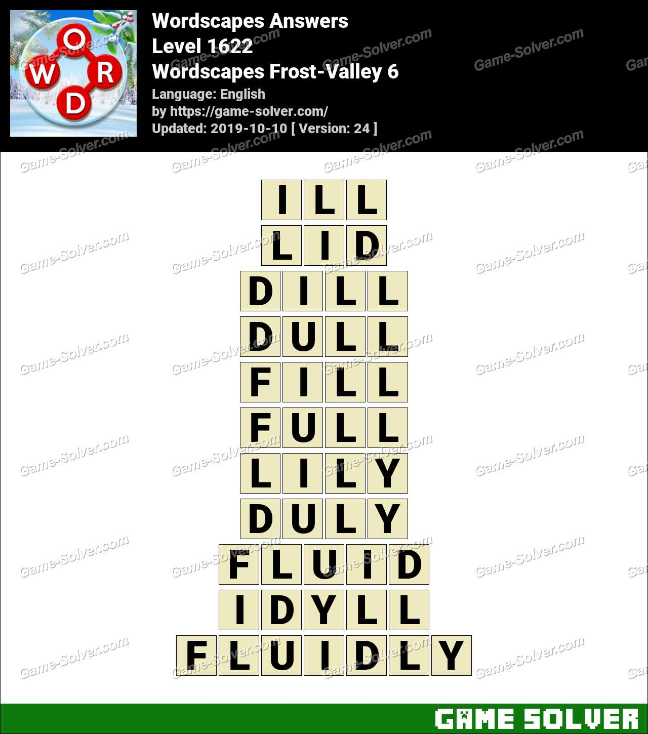 Wordscapes Frost-Valley 6 Answers
