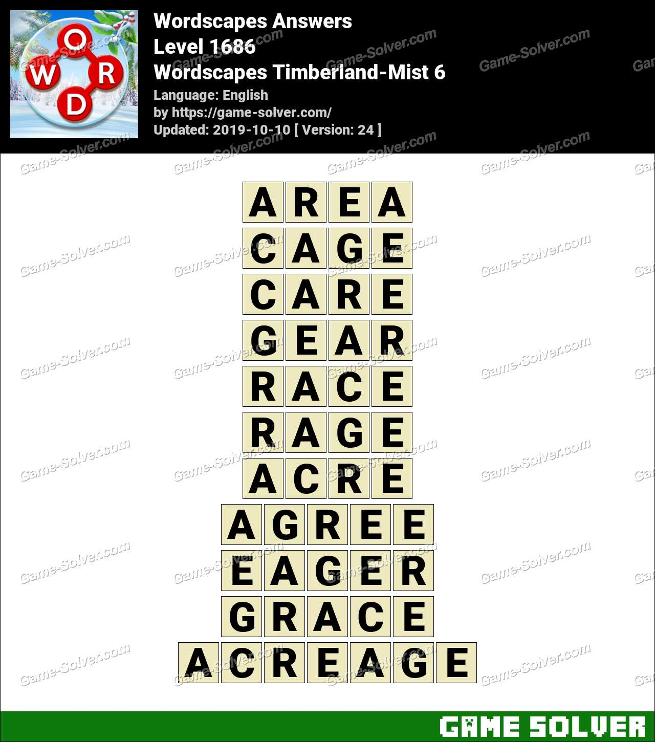 Wordscapes Timberland-Mist 6 Answers