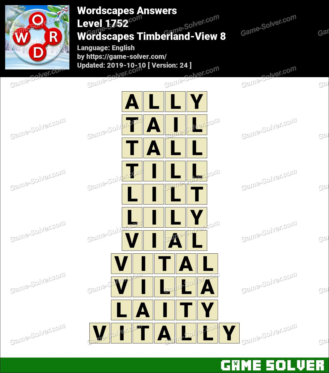 Wordscapes Timberland-View 8 Answers