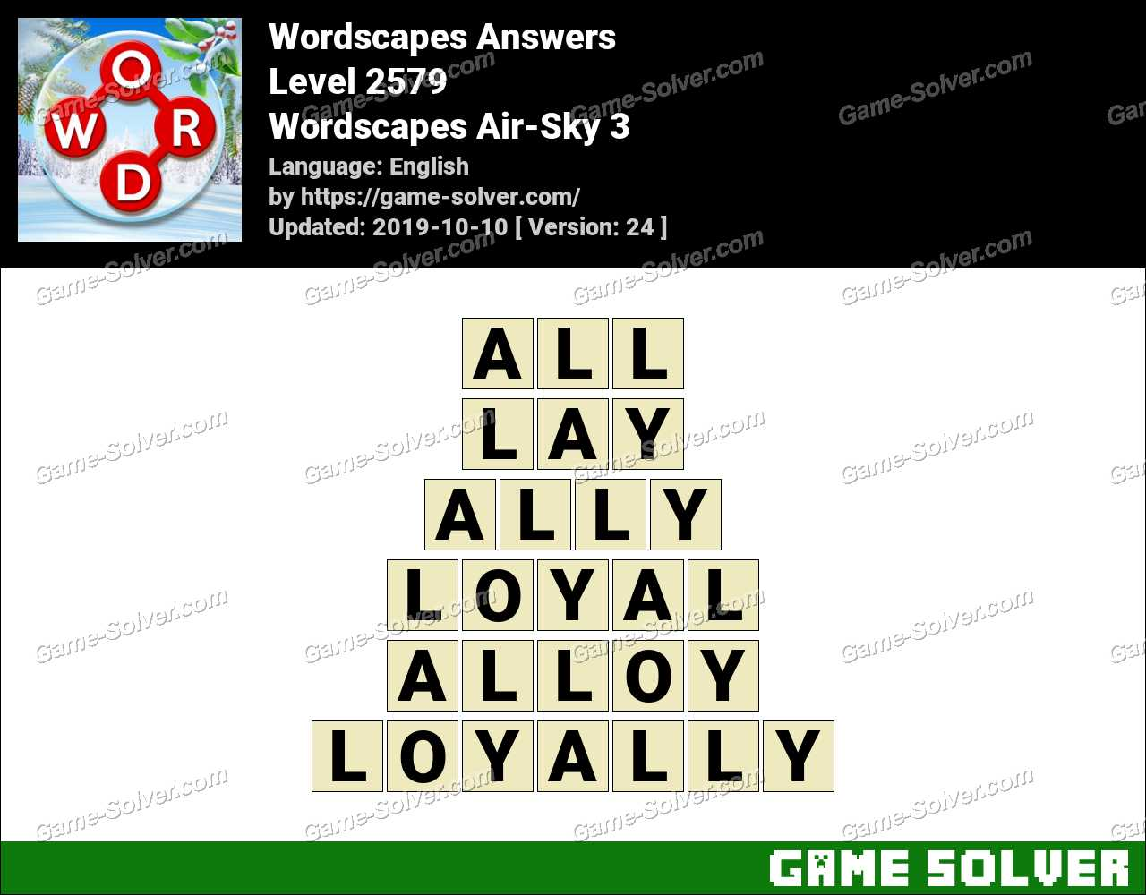 Wordscapes Air-Sky 3 Answers