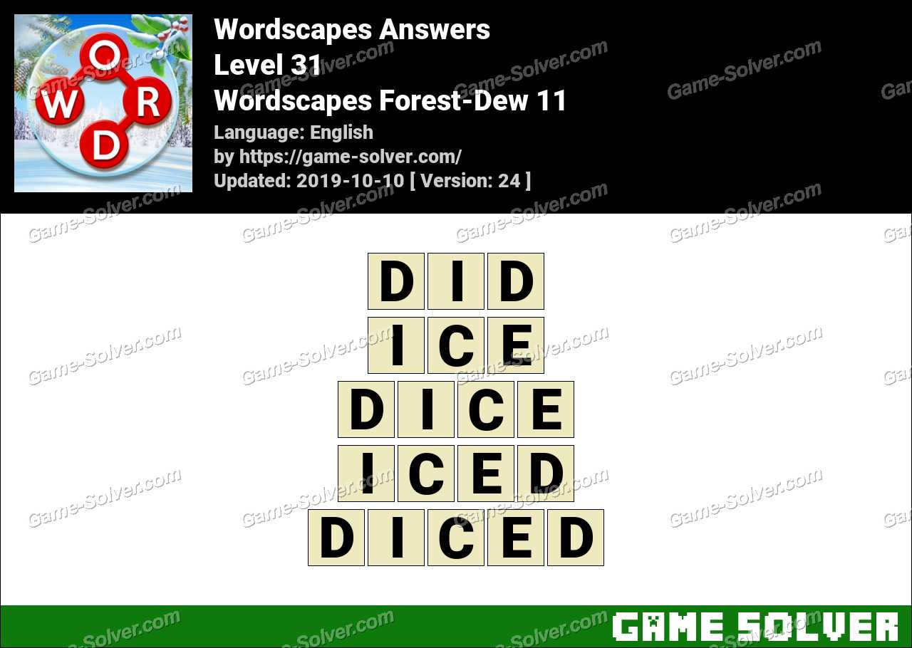Wordscapes Forest-Dew 11 Answers