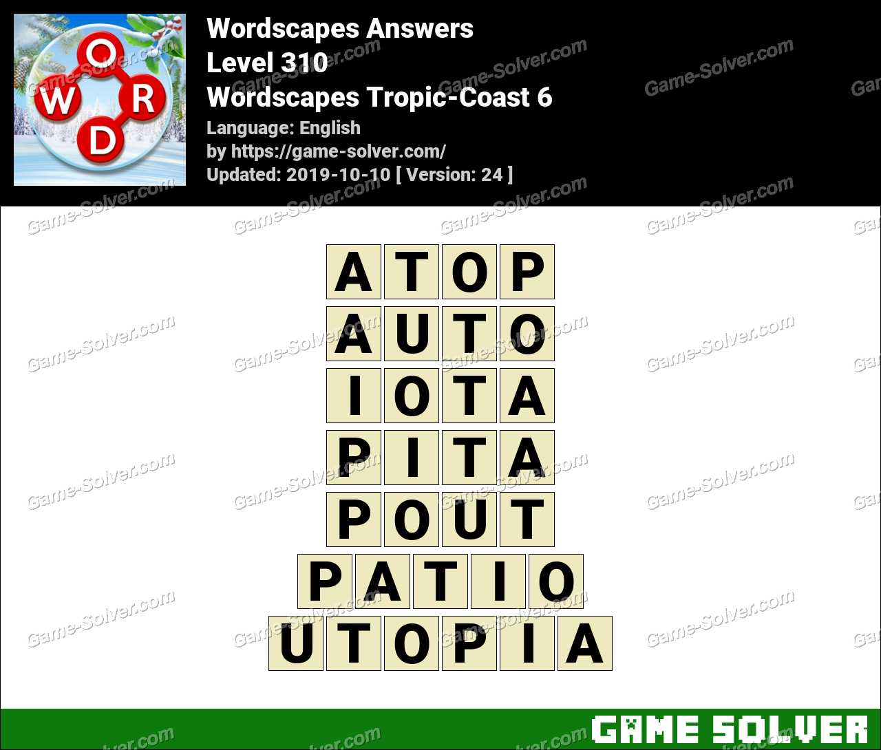 Wordscapes Tropic-Coast 6 Answers