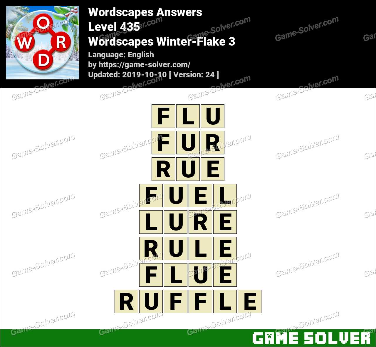 Wordscapes Winter-Flake 3 Answers
