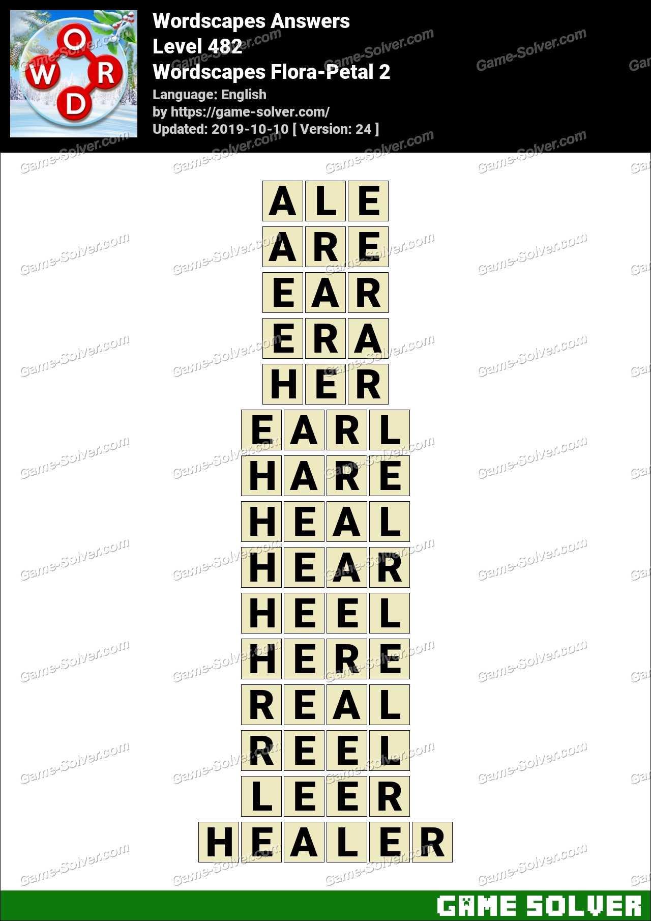 Wordscapes Flora-Petal 2 Answers
