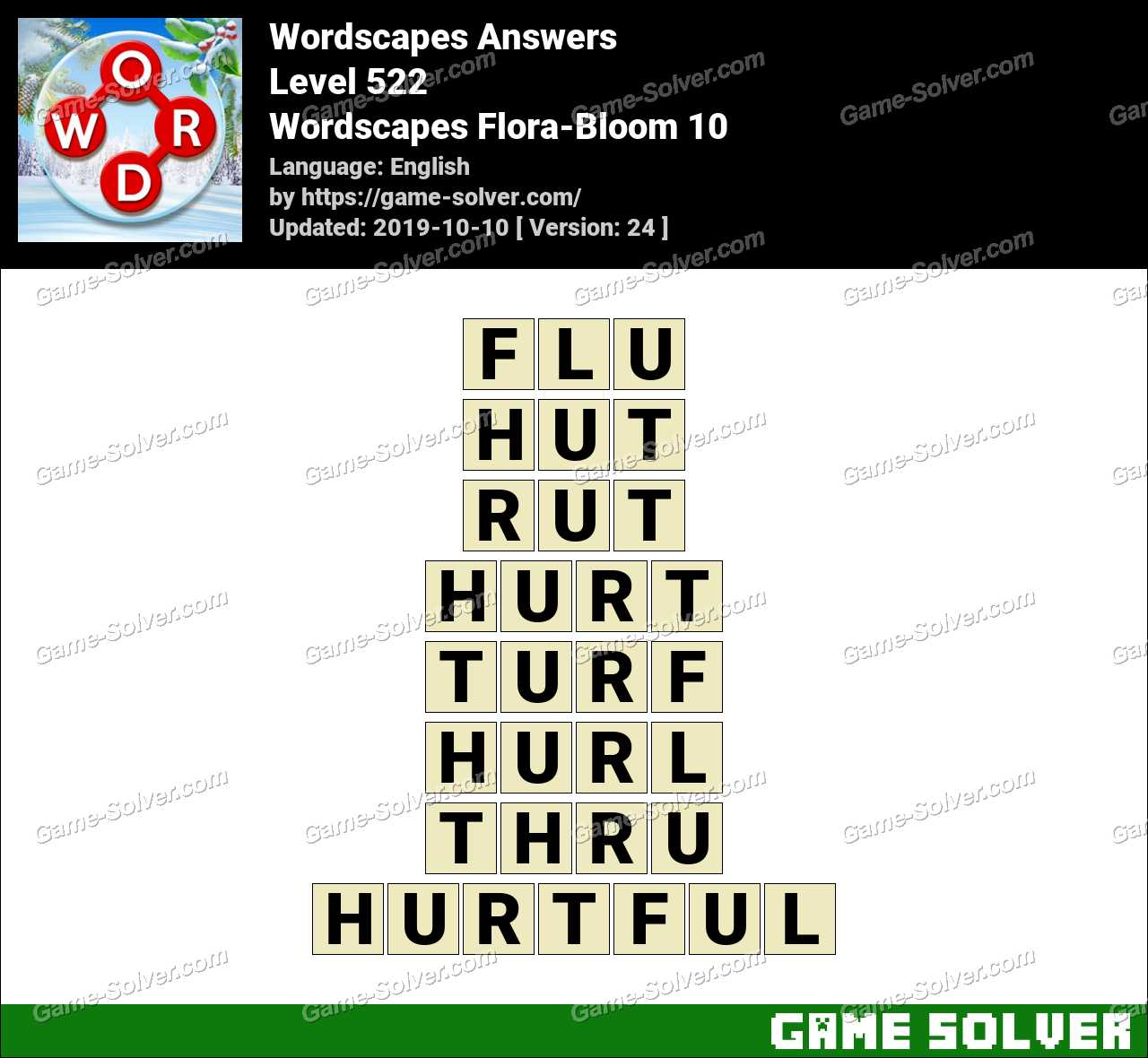 Wordscapes Flora-Bloom 10 Answers