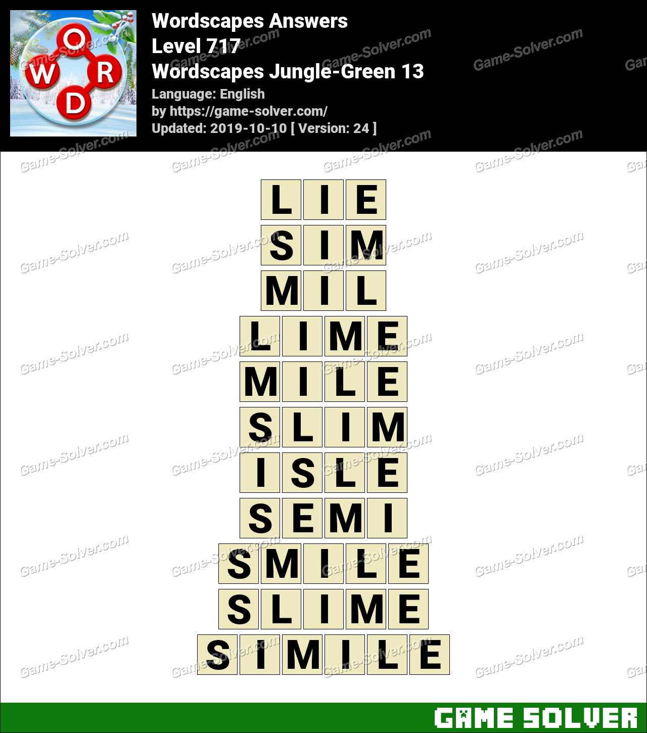 Wordscapes Jungle-Green 13 Answers