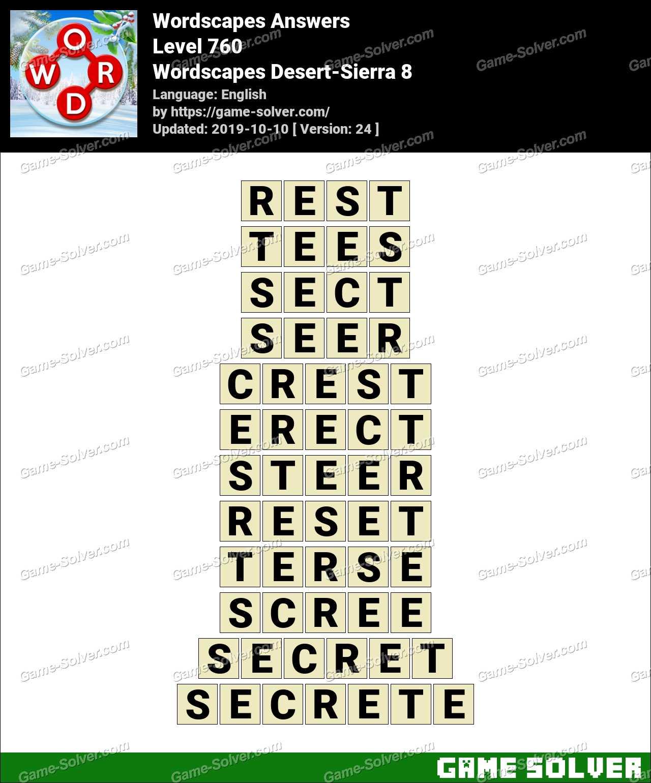Wordscapes Desert-Sierra 8 Answers