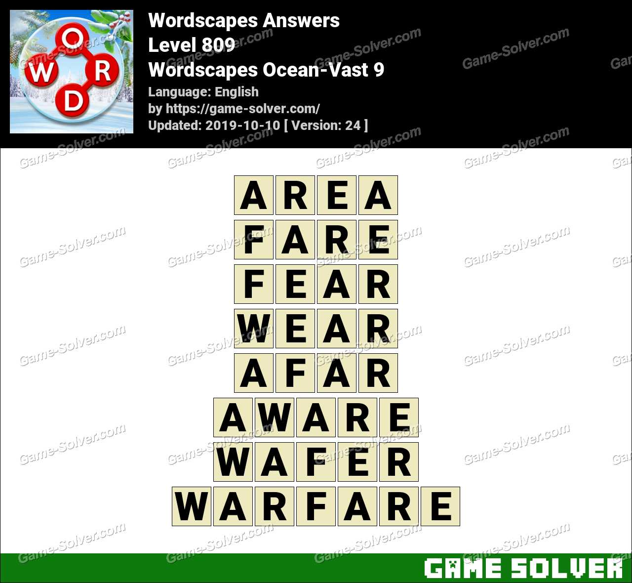 Wordscapes Ocean-Vast 9 Answers