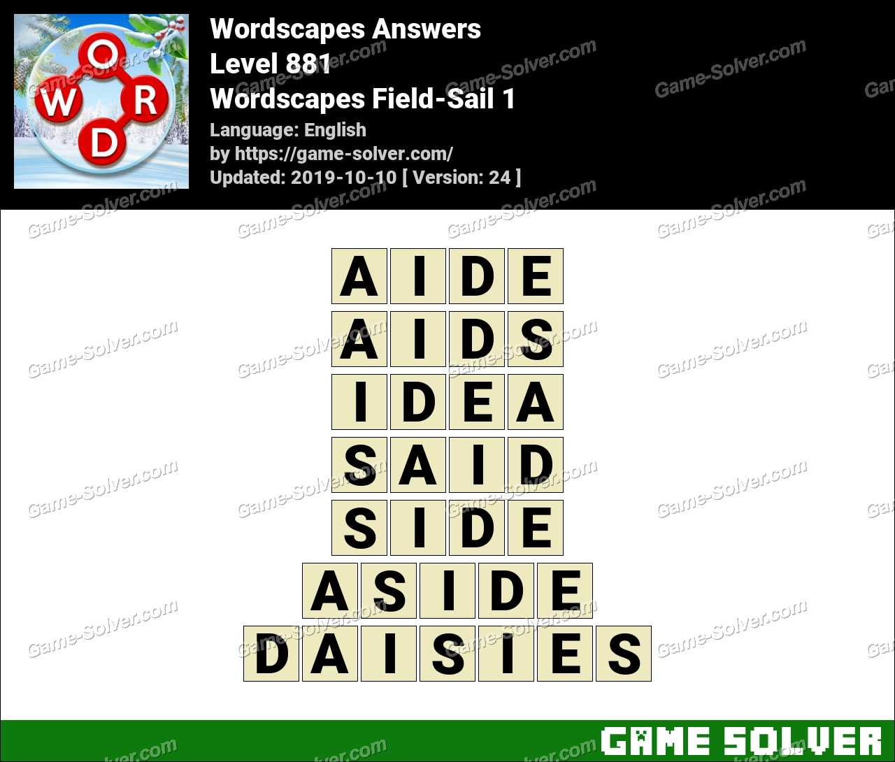 Wordscapes Field-Sail 1 Answers