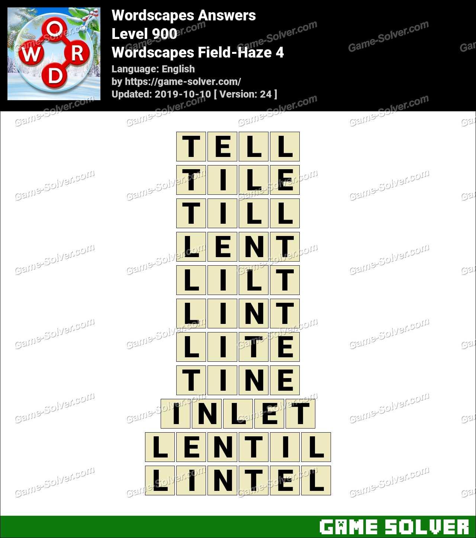 Wordscapes Field-Haze 4 Answers