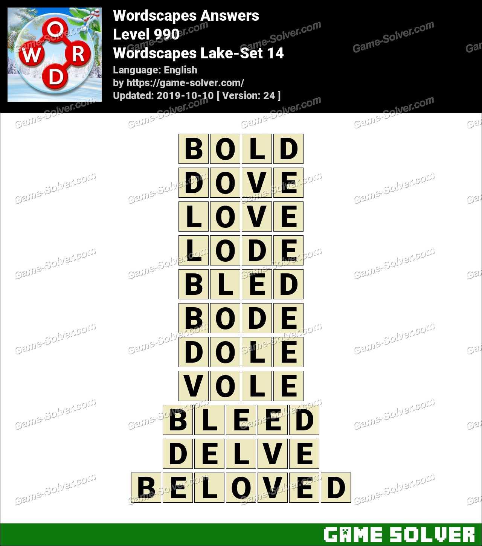 Wordscapes Lake-Set 14 Answers