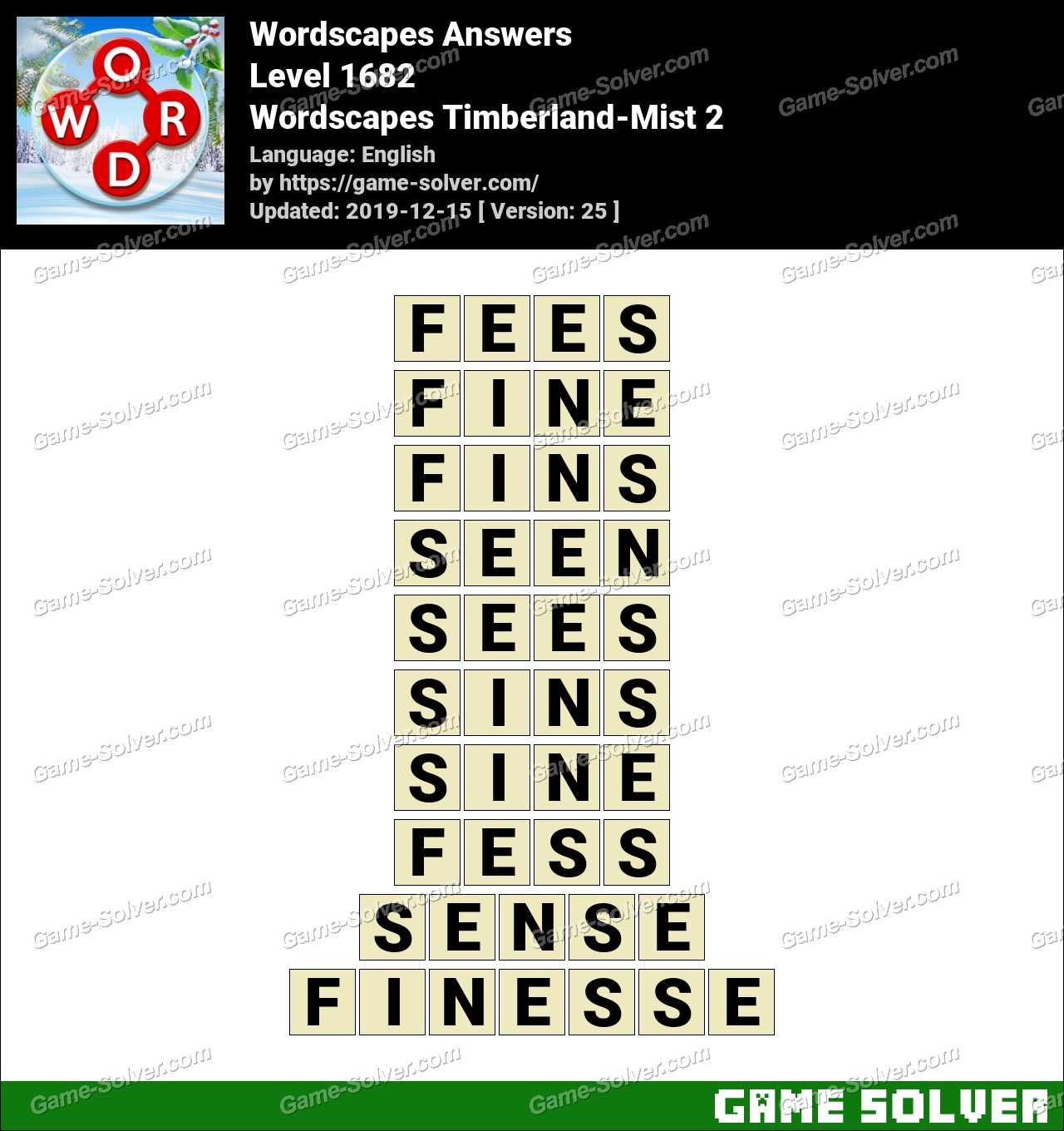 Wordscapes Timberland-Mist 2 Answers