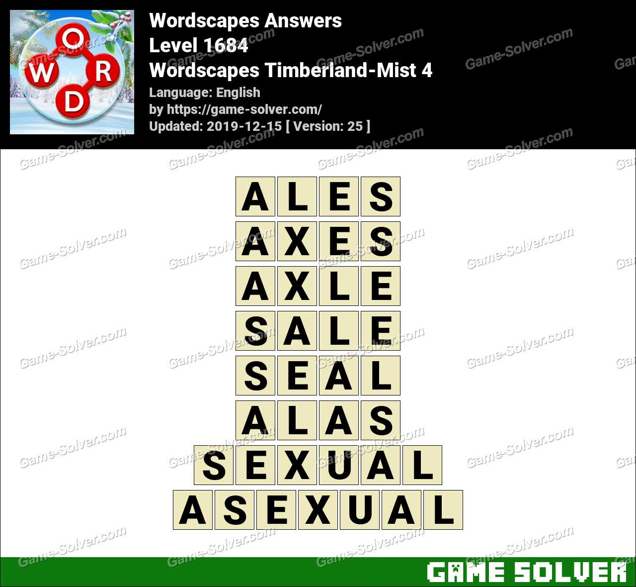 Wordscapes Timberland-Mist 4 Answers