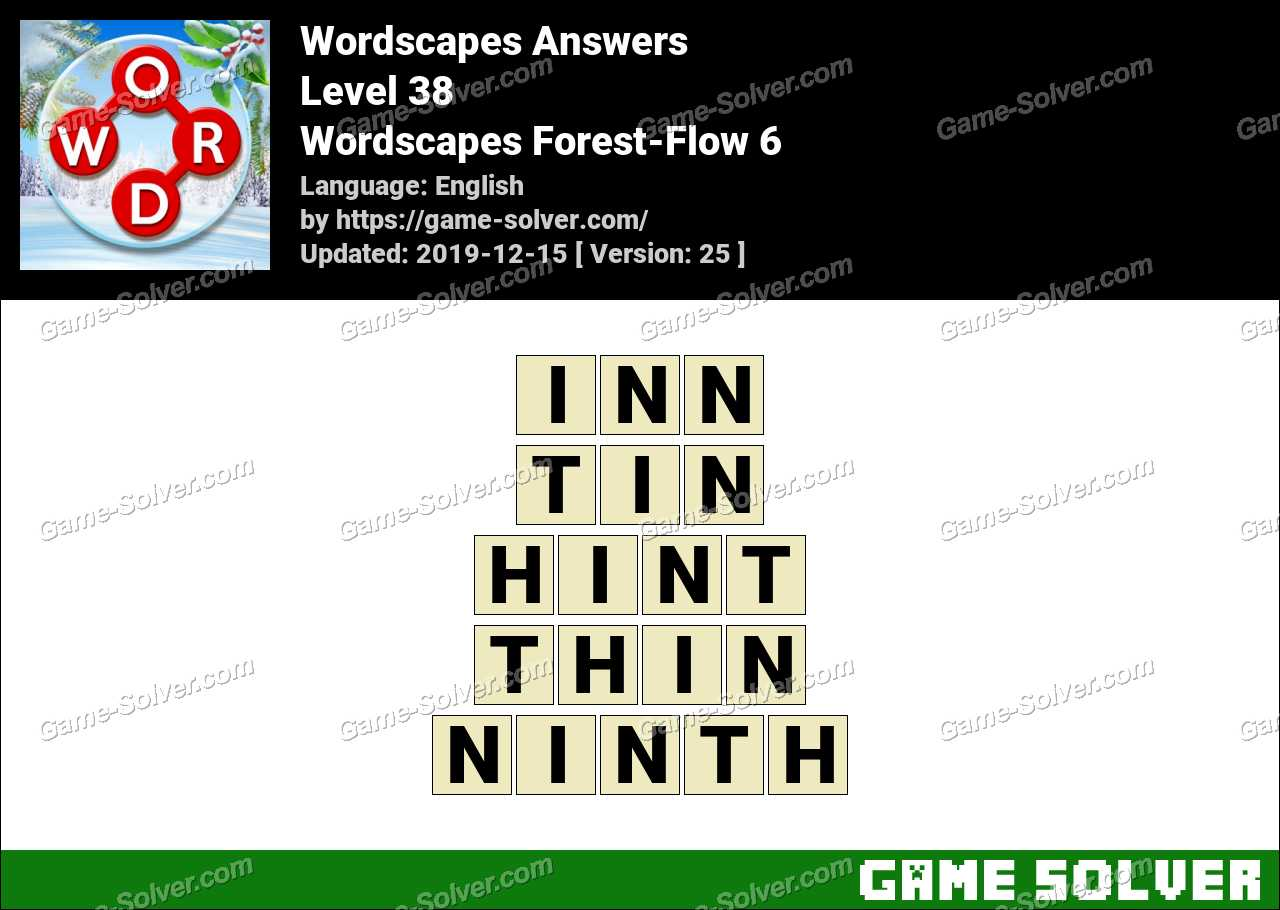 Wordscapes Forest-Flow 6 Answers