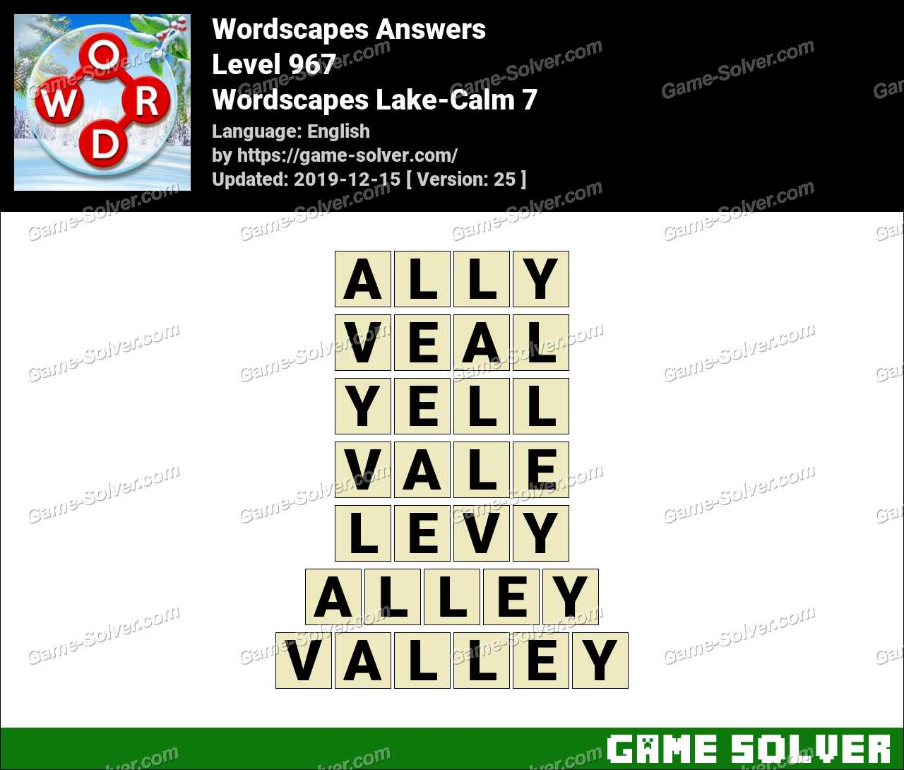 Wordscapes Lake-Calm 7 Answers