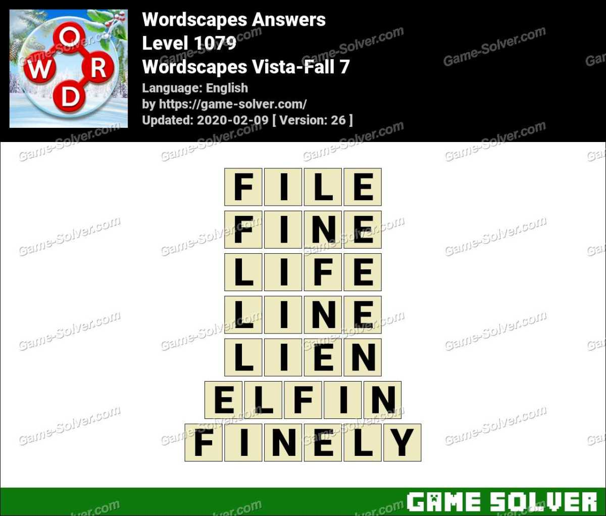 Wordscapes Vista-Fall 7 Answers