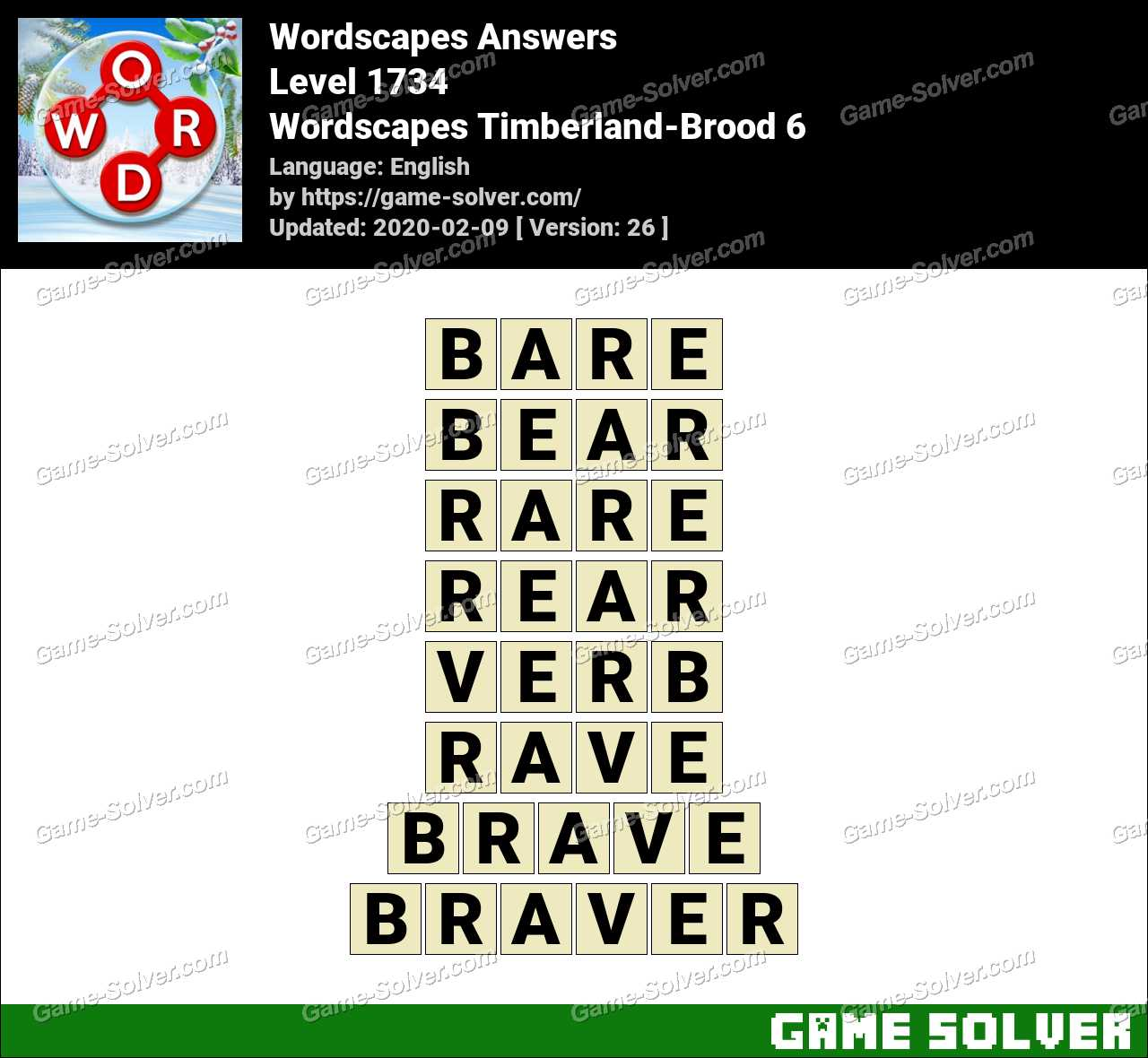 Wordscapes Timberland-Brood 6 Answers