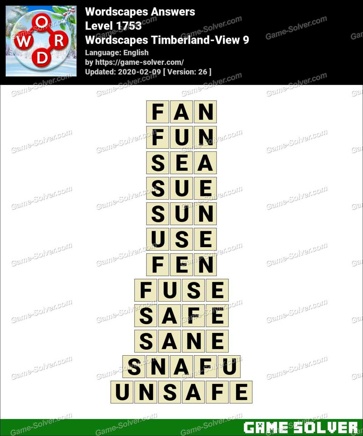 Wordscapes Timberland-View 9 Answers