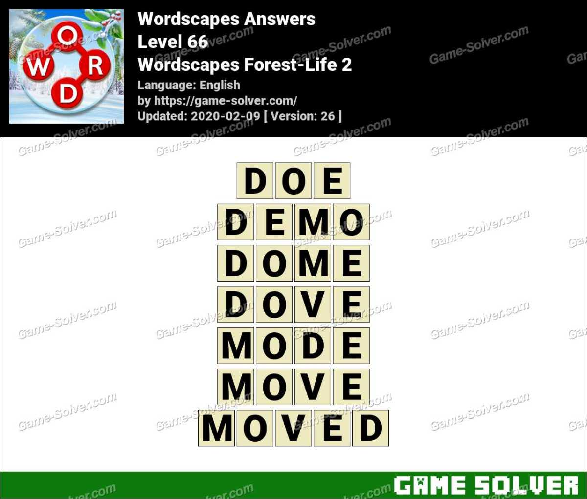 Wordscapes Forest-Life 2 Answers