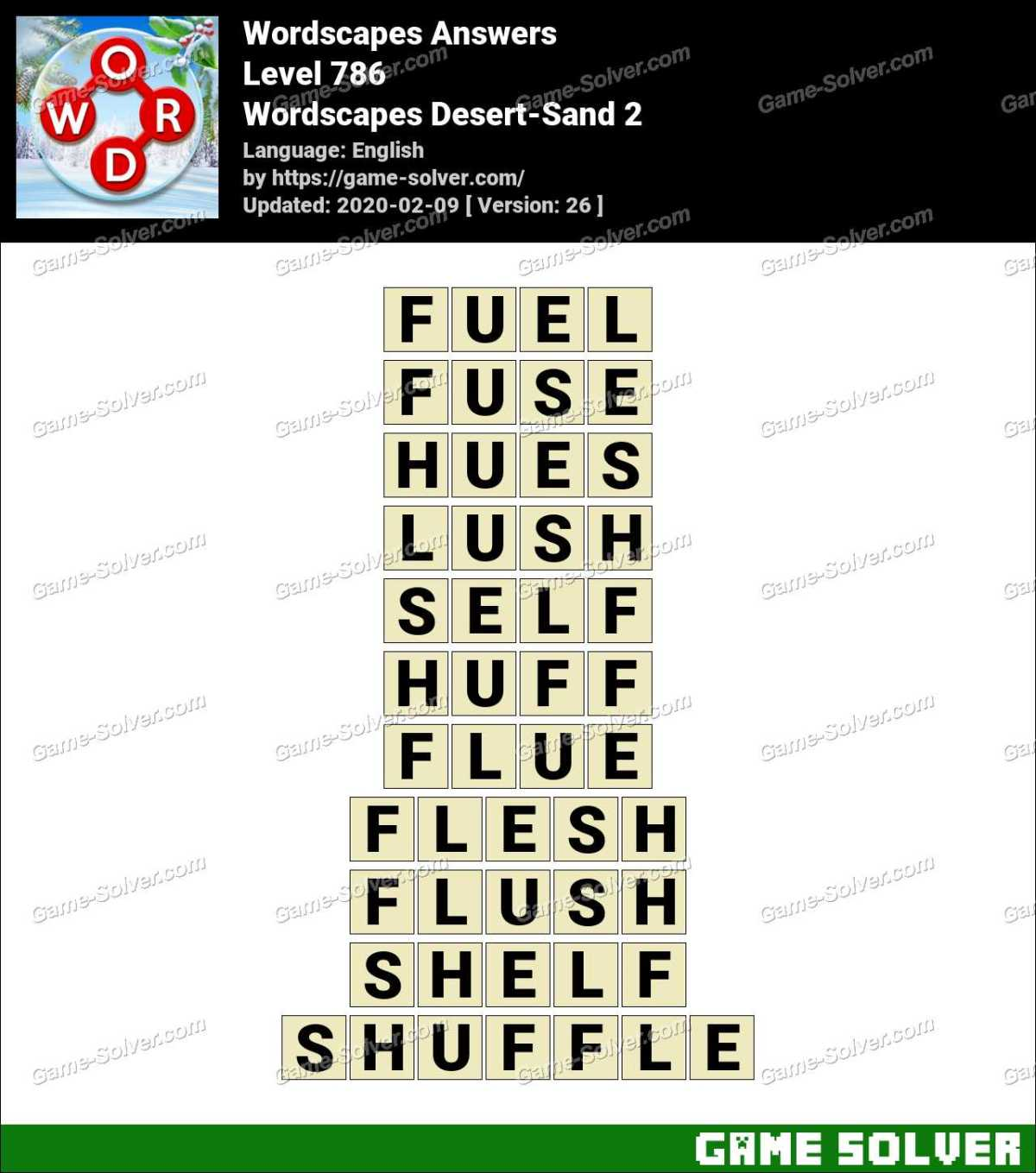 Wordscapes Desert-Sand 2 Answers