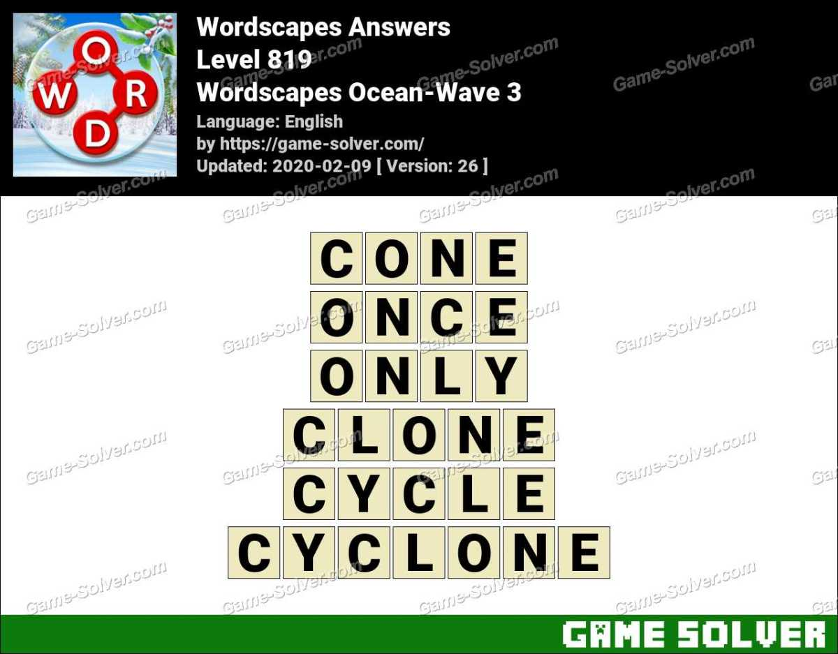 Wordscapes Ocean-Wave 3 Answers