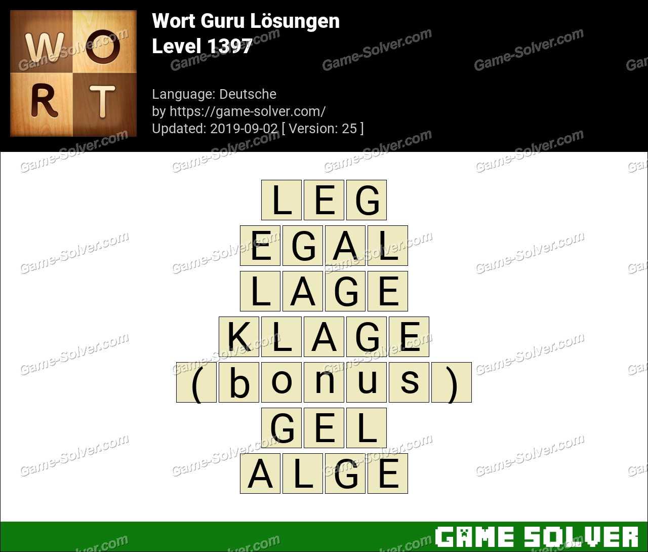 Wort Guru Level 1397 Lösungen