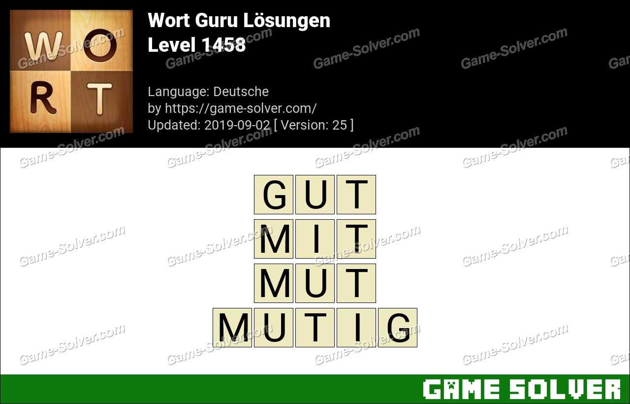 Wort Guru Level 1458 Lösungen