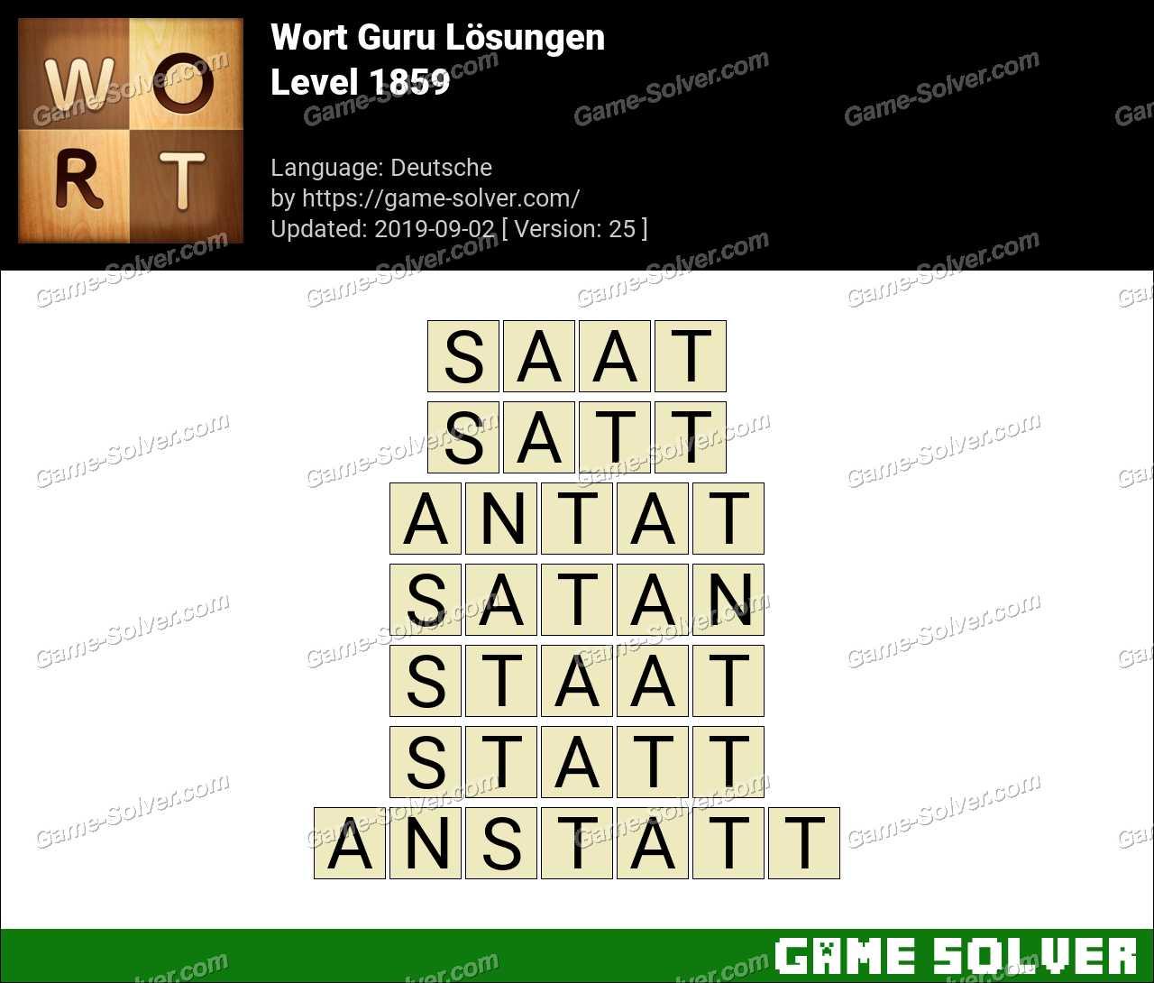 Wort Guru Level 1859 Lösungen