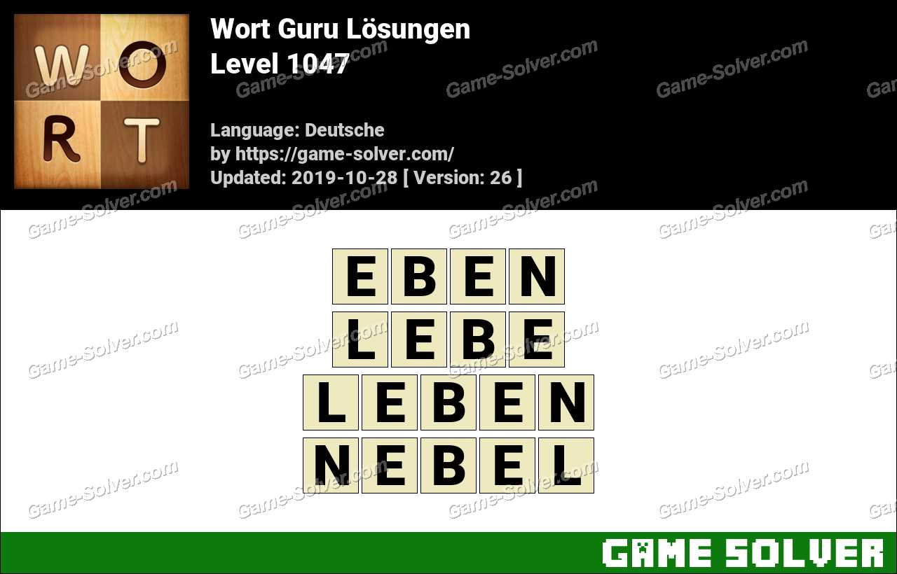Wort Guru Level 1047 Lösungen