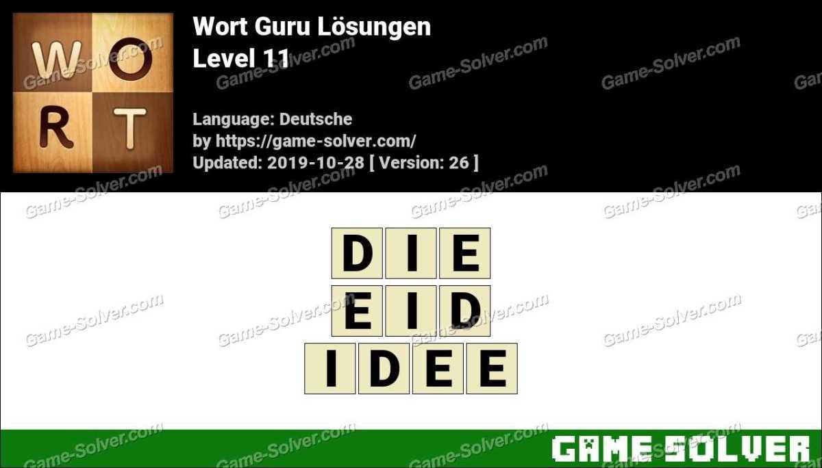 Wort Guru Level 11 Lösungen