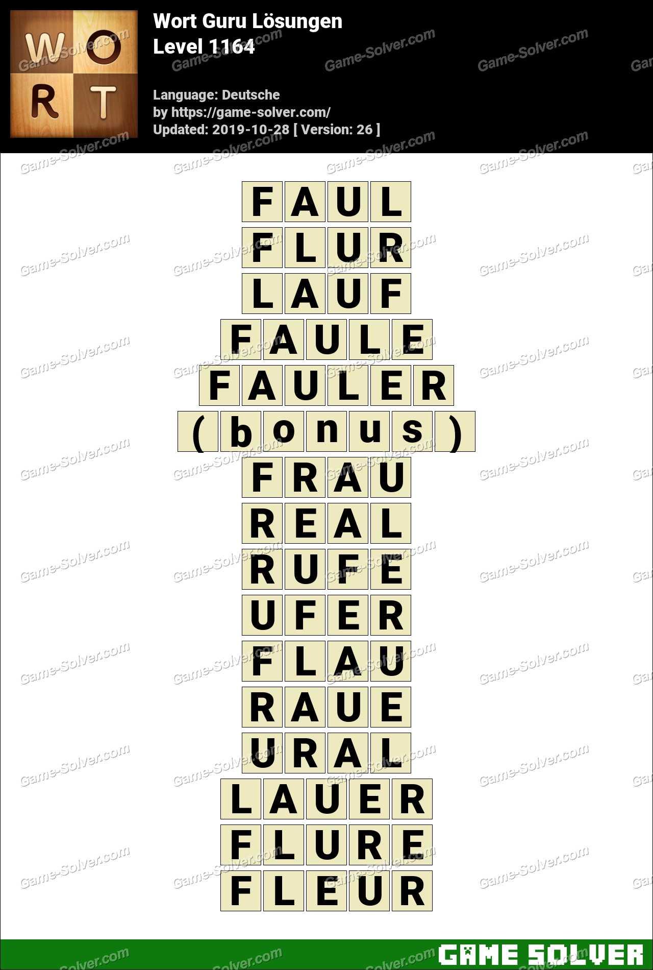 Wort Guru Level 1164 Lösungen