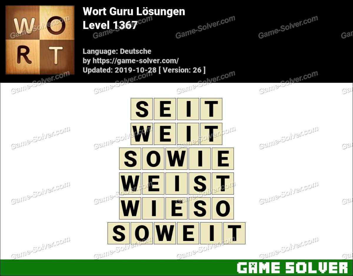 Wort Guru Level 1367 Lösungen