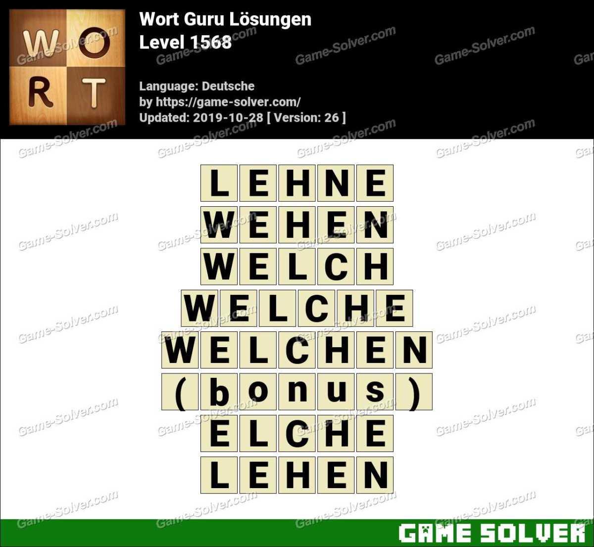 Wort Guru Level 1568 Lösungen