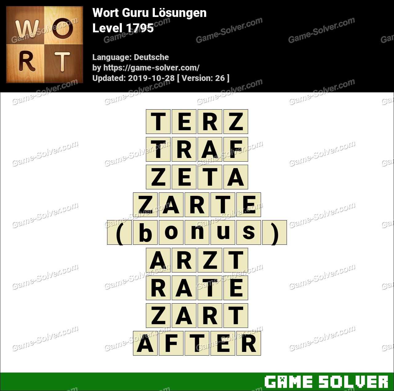 Wort Guru Level 1795 Lösungen