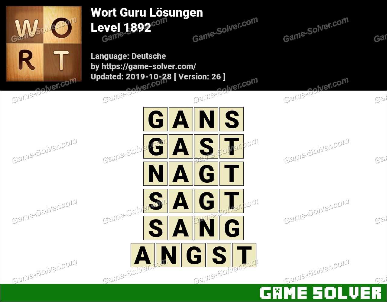 Wort Guru Level 1892 Lösungen