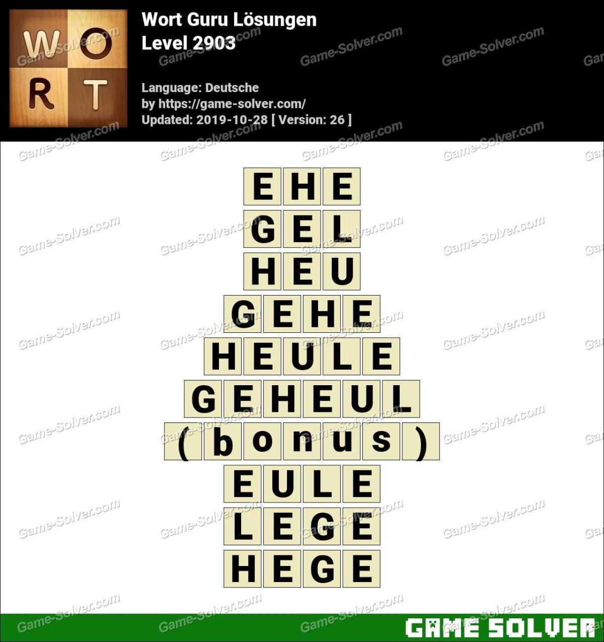 Wort Guru Level 2903 Lösungen