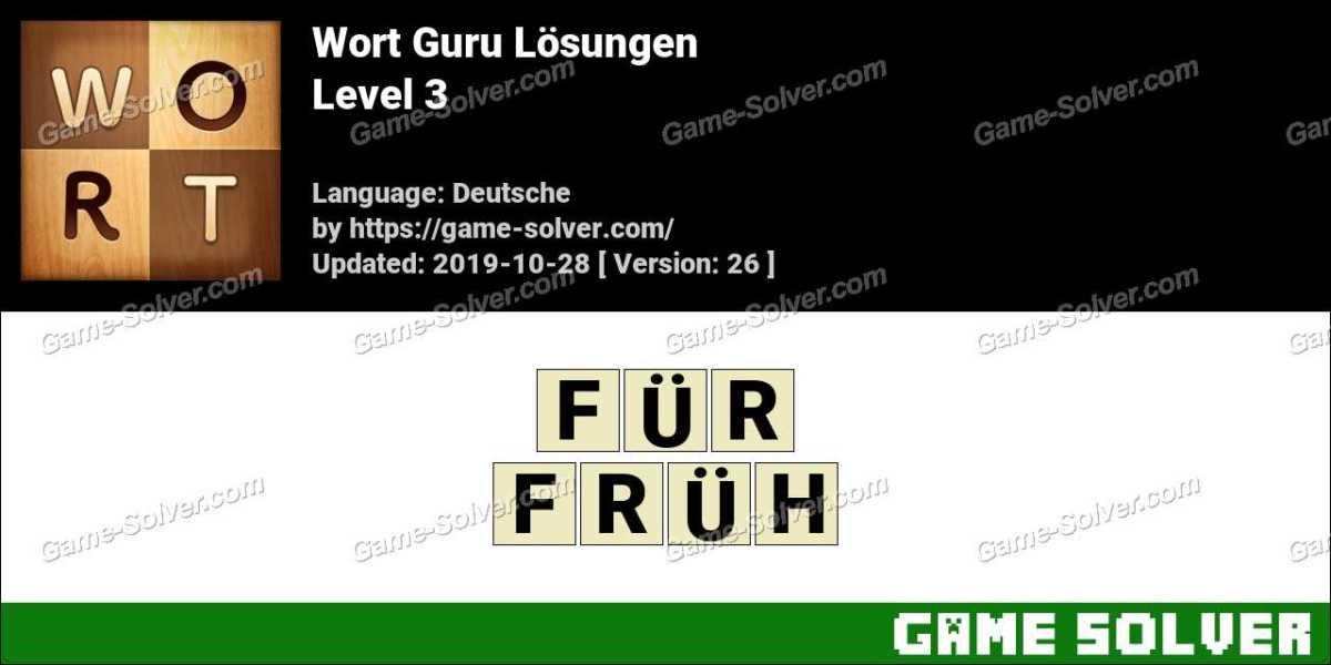Wort Guru Level 3 Lösungen