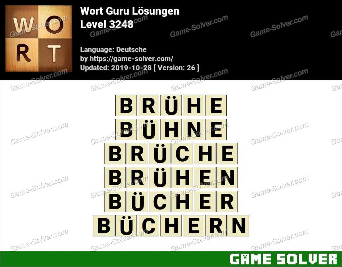 Wort Guru Level 3248 Lösungen