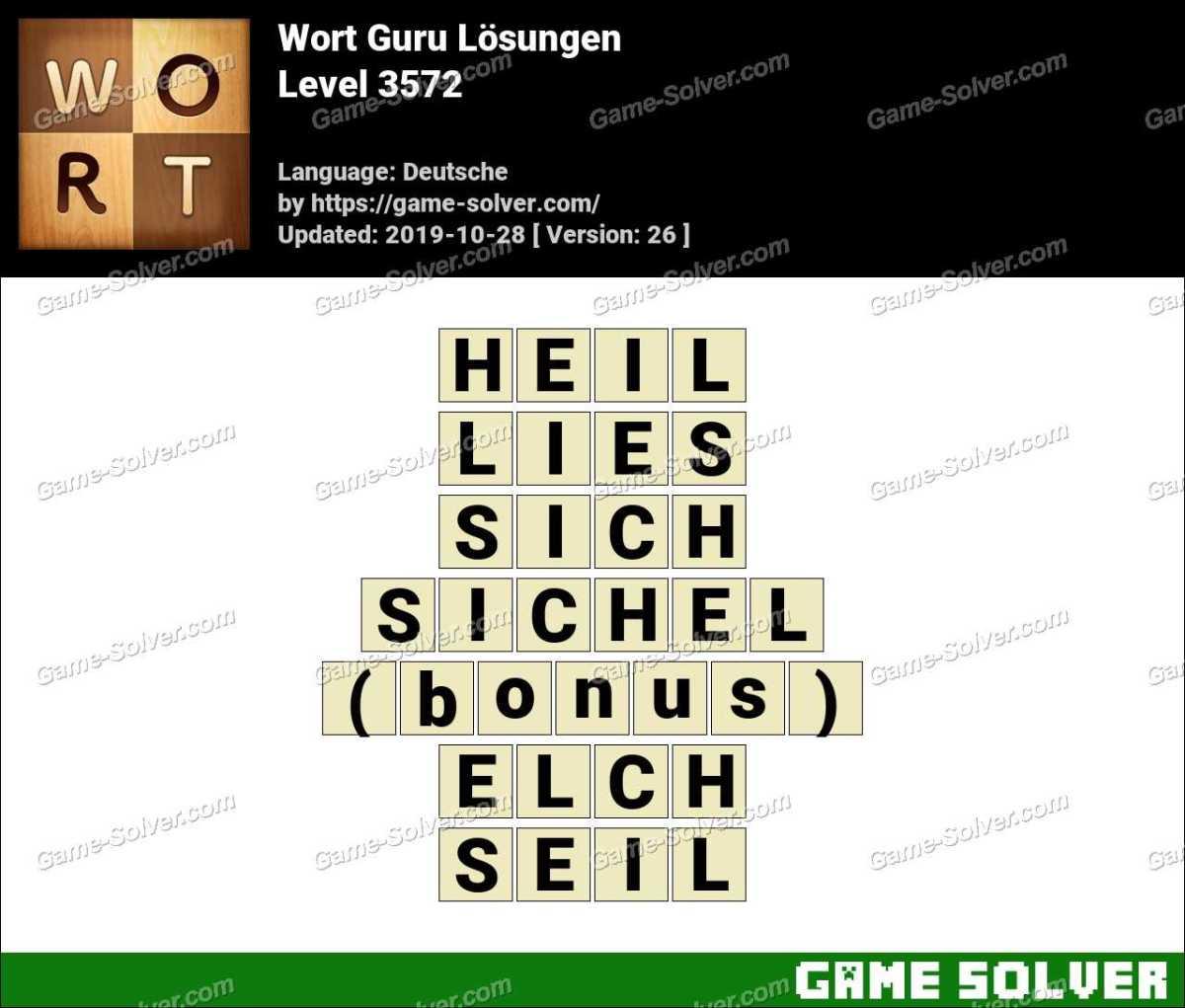 Wort Guru Level 3572 Lösungen