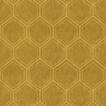 Vliesbehang Hexagon okergeel 103976  behang  GAMMAbe
