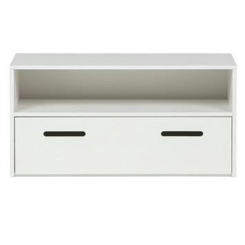 meuble tv audio jessy 80 cm blanc