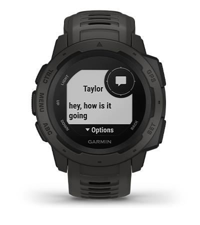 Instinct con la pantalla de notificaciones inteligentes