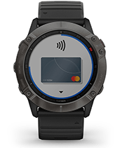 fēnix 6X Pro & Sapphire with Garmin Pay screen