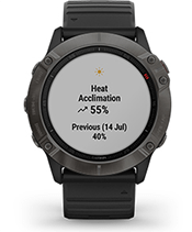 fēnix 6X Pro Solar con la pantalla de métricas de rendimiento
