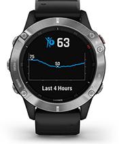fēnix 6 con la schermata di monitoraggio dell'energia Body Battery