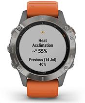 fēnix 6 Pro & Sapphire with performance metrics screen