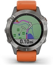 fēnix 6 Pro y Zafiro con la pantalla de navegación