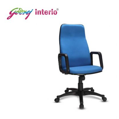 executive revolving chair specifications best massage pad gem product description godrej high back cushioned premium with arms interio