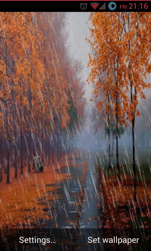 Rain Fall Live Wallpaper Free Autumn Rain Live Wallpaper Apk Download For Android